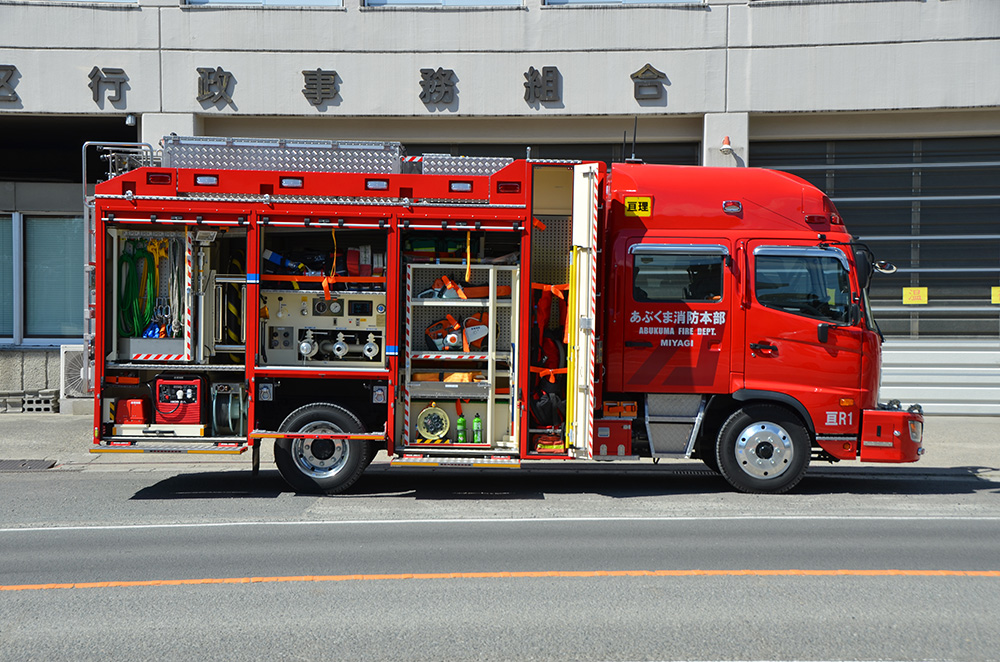 消防ポンプ付救助工作車3